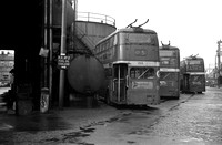 Manchester 1315, 1341 and 1321 (ONE 715, ONE 741 and ONE 721) rn Hyde Road Garage 31-Dec-1966