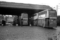 Manchester 1308 and 1354 (ONE 708 and ONE 754) rn Hyde Road Garage 31-Dec-1966