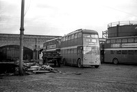 Manchester 1333 fo (ONE 733) Hyde Road Garage 31-Dec-1966